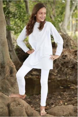 Pyjama Fille Sybille rayé Gris