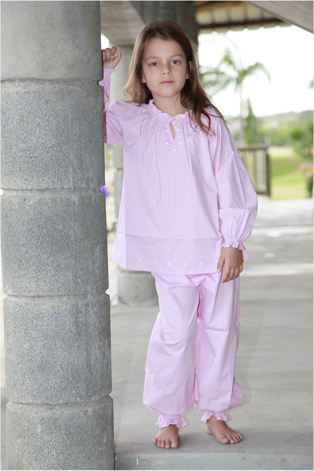 pyjama fille ines rose l 39 orangerie. Black Bedroom Furniture Sets. Home Design Ideas