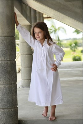 Chemise de Nuit Fille Bernadette blanc