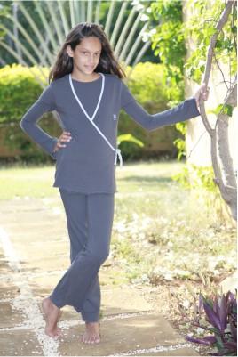Pyjama fille Astrid Gris
