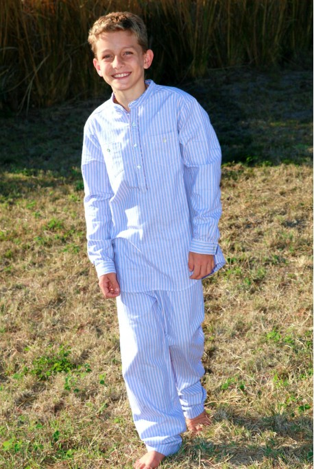 Pyjama Garçon Aristide Rayé ciel orange