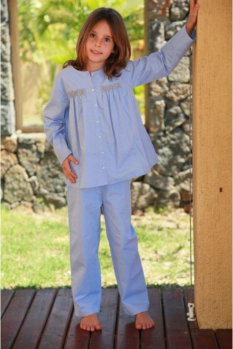 Pyjama long ciel fille