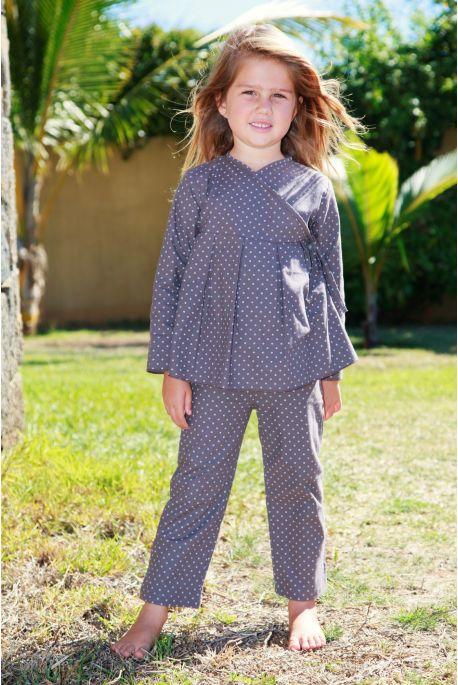 Pyjama Fille Chocolat imprime Josephine