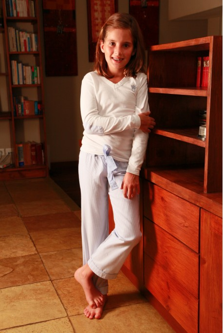 Pyjama Fille Victoire rayure ciel