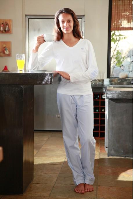 Pyjama Femme Victoire2 rayure ciel