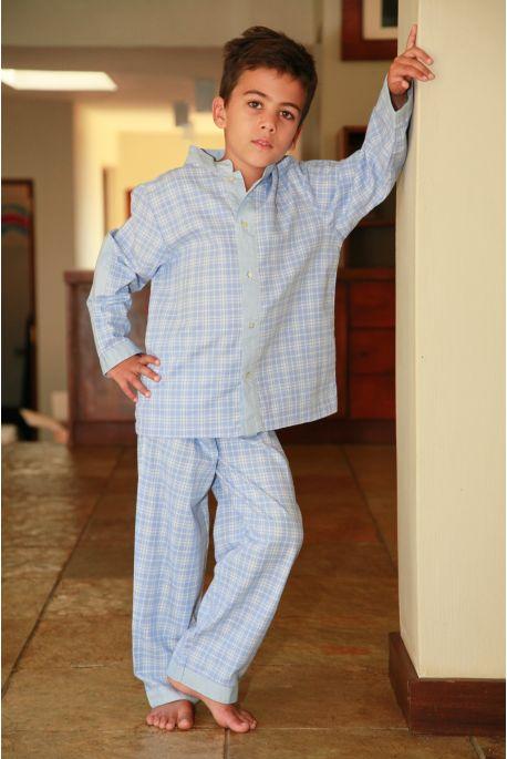 Pyjama Garcon Richard carreau ciel
