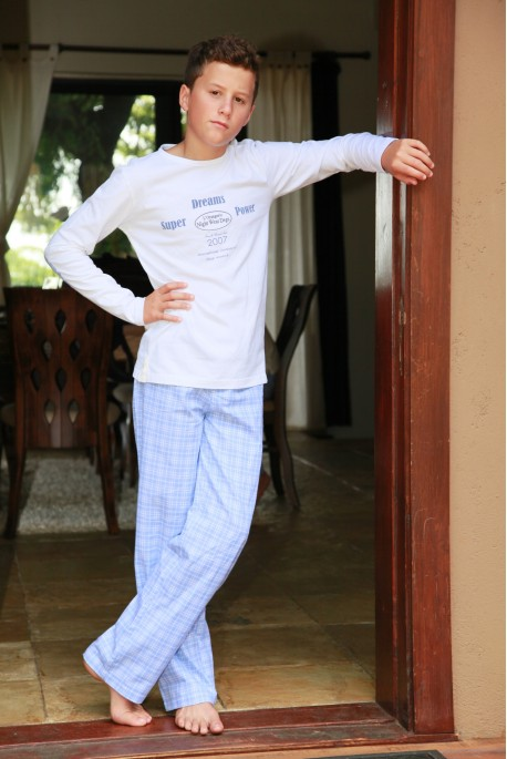 Pyjama Garçon Gonzague carreau ciel