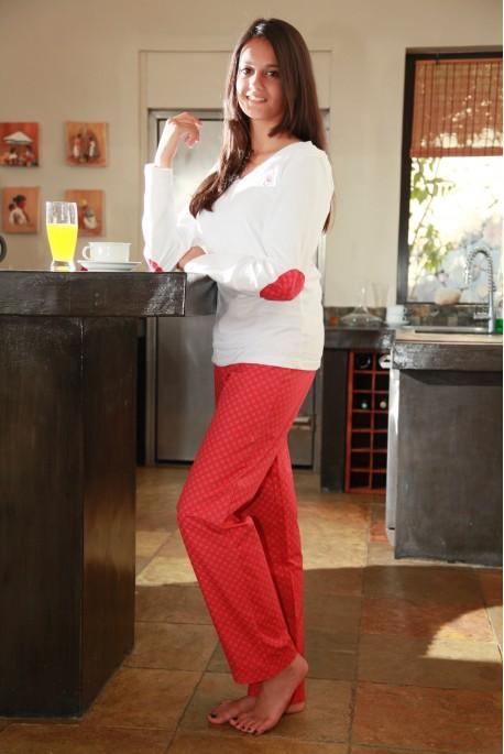 Pyjama Femme Victoire2 corail