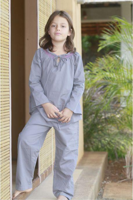 Pyjama Fille Rosalie Gris