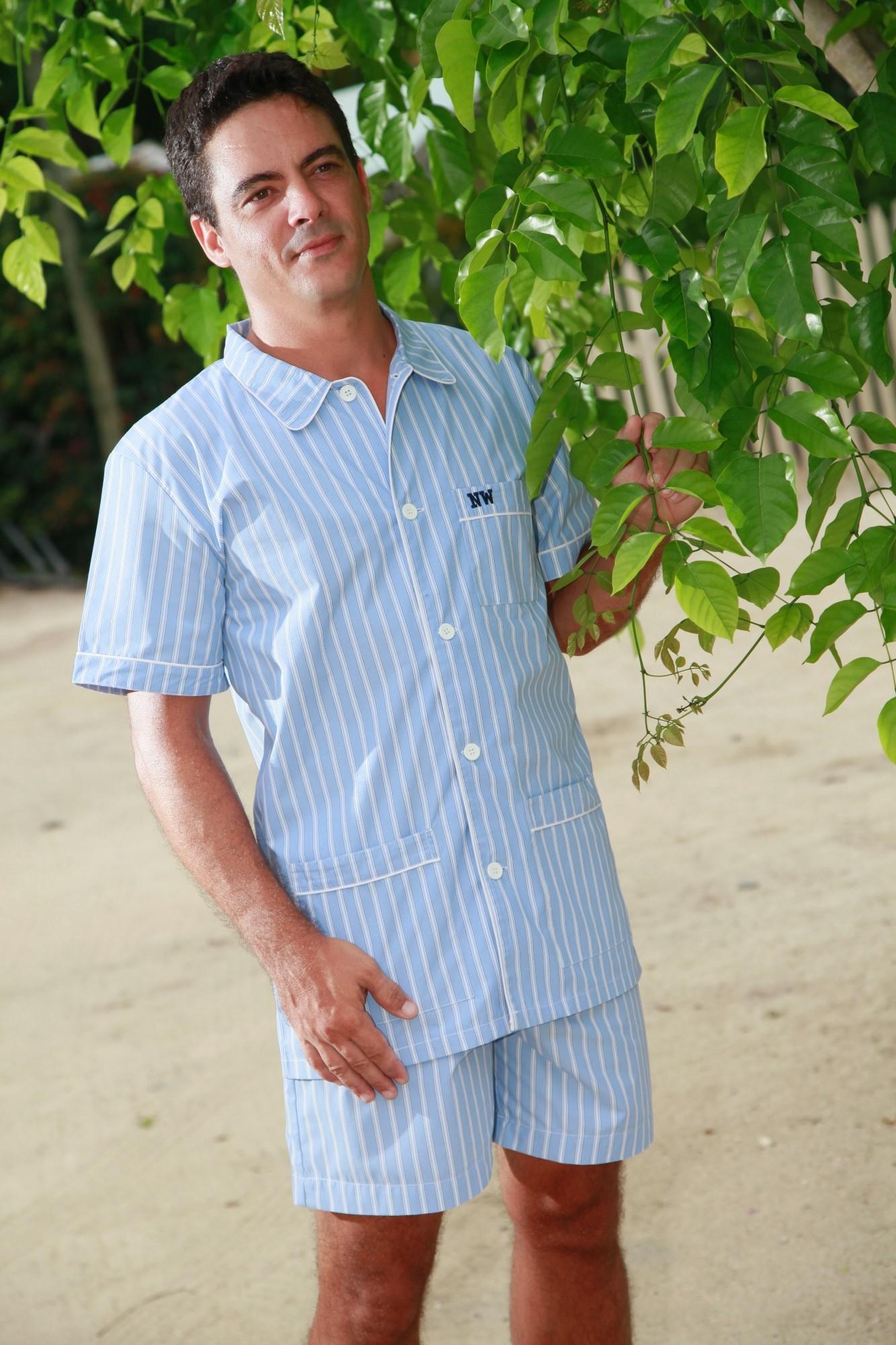pyjama court pour homme alfred l 39 orangerie. Black Bedroom Furniture Sets. Home Design Ideas