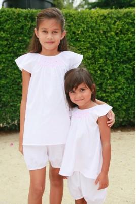 Pyjama blanc 10 ans et 4 ans pour Fille Pimprenelle