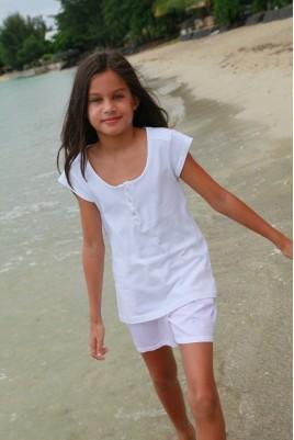 Pyjama court piqué imprimé pour fille Valériane