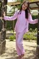 Pyjama long imprimé rose Fille Blandine