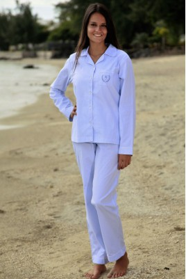 Pyjama Rayure Ciel Femme Gloria
