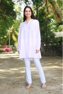 Pyjama Long Imprimé rose fluo Femme Sybilline II