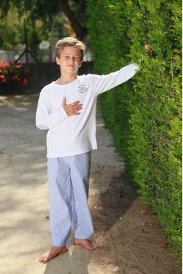 pyjama Long Rayure Ciel Garçon Gonzague Jr