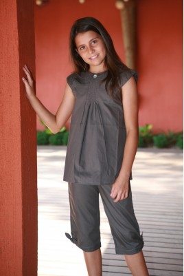 Pyjama Fille Isaure Gris