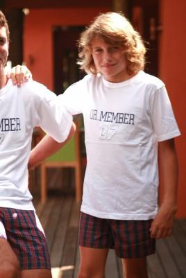 Pyjama Garçon Junior Tshirt brodé/ Short écossais