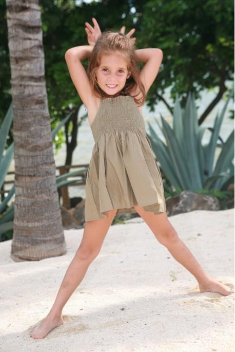 Maillot de bain Fille Soleil Vert Olive