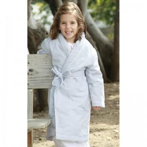 robe de chambre coton gris clair