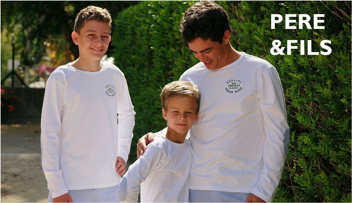 Collection Père et fils - Pyjamas pour Hommes et Garçons.