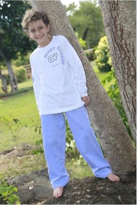 Pyjama Garçon Gonzague Twill Bleu