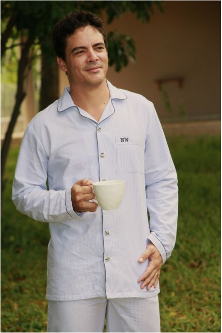Pyjama Homme Charles Rayure grise