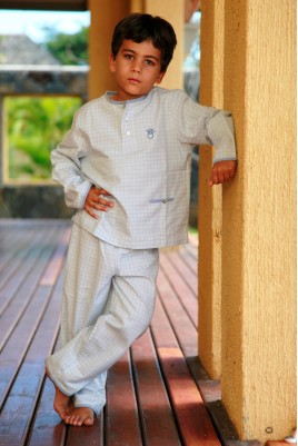 Boys pyjamas l 39 orangerie the french touch 4 l for Pyjama carreaux