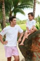 Pyjama Garcon Junior rayures roses