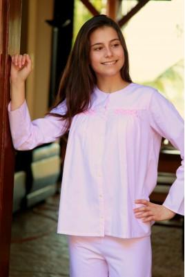 Pyjama Fille Bianca rayé rose 693a