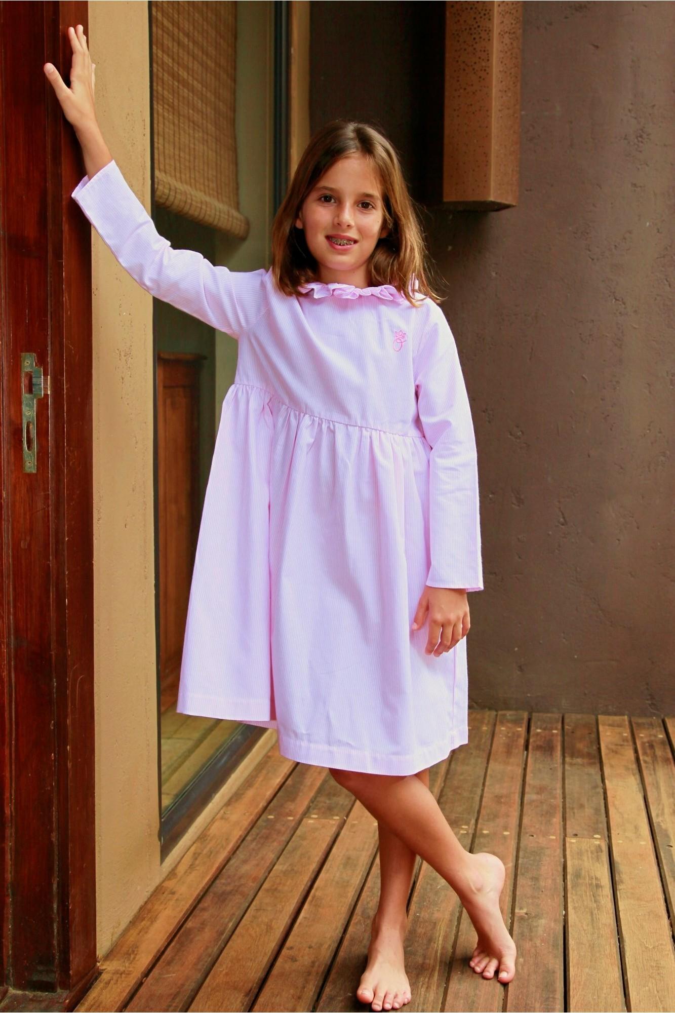 avant-garde de l'époque fournir un grand choix de une autre chance Chemise de Nuit Fille Agathe rayure rose - L'orangerie