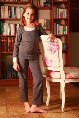 Pyjama Fille Anouchka gris