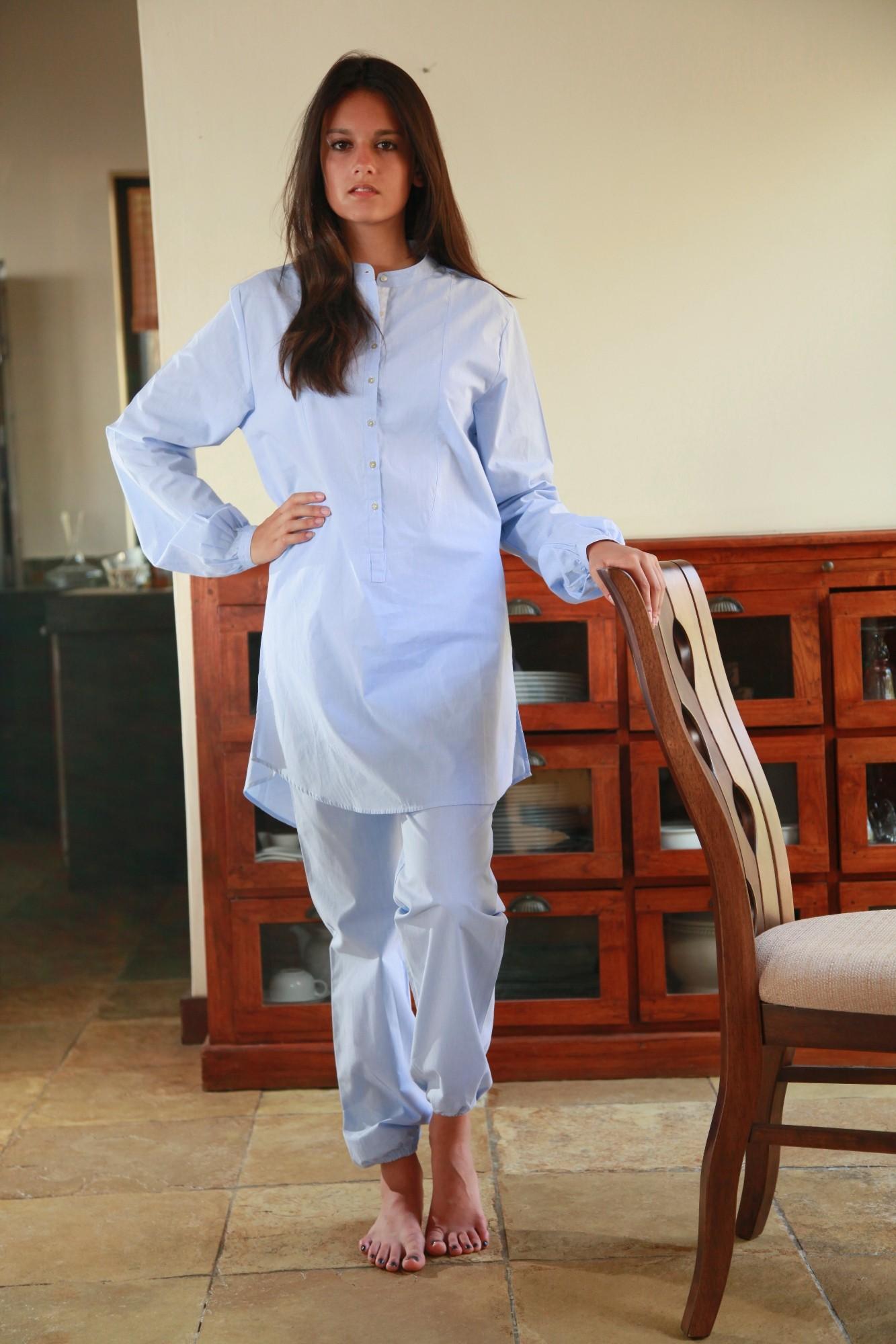 comment chercher nouveau design nouveaux prix plus bas Pyjama Femme PAO Ciel - L'orangerie