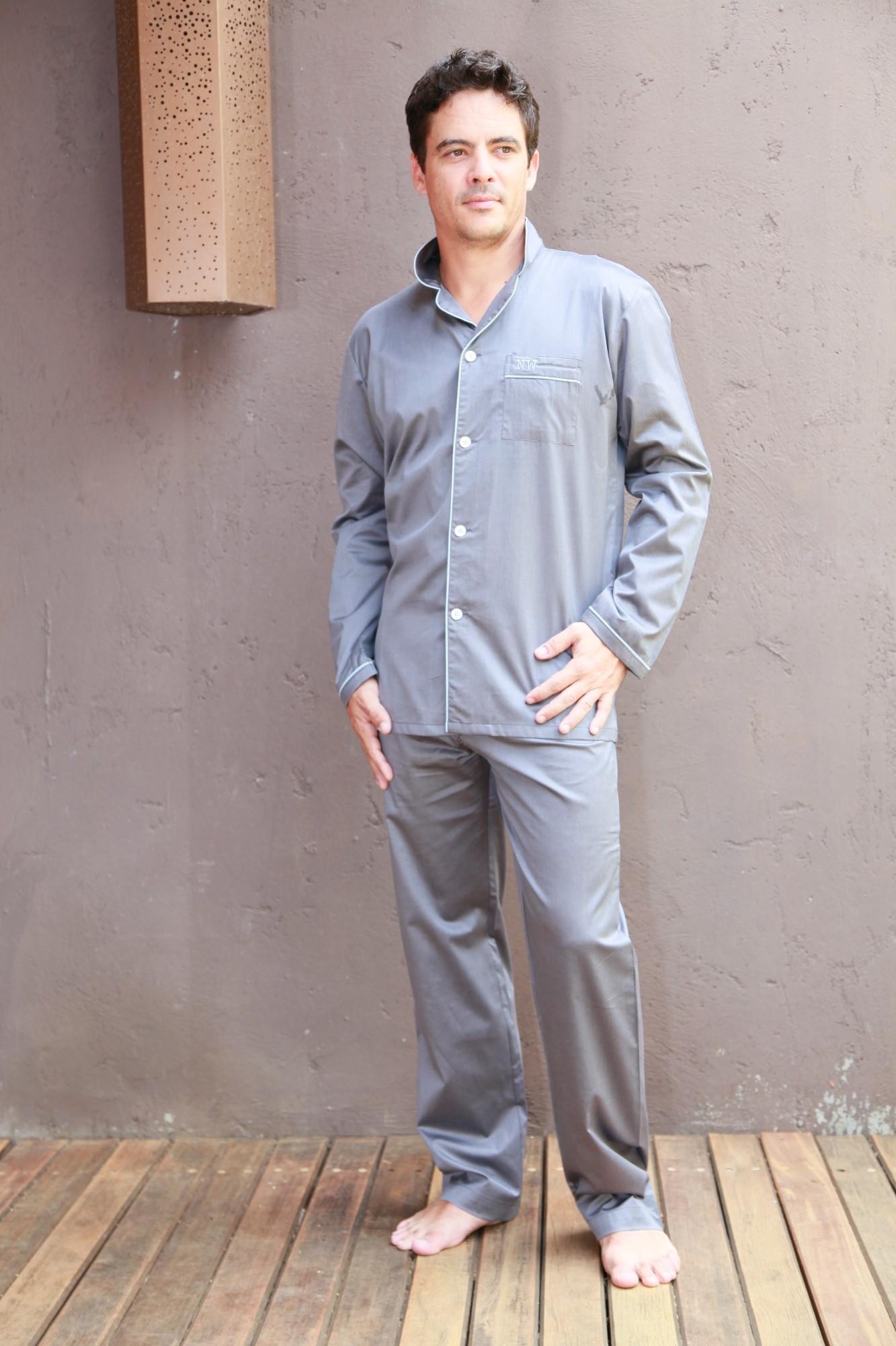 pyjama homme charles anthracite l 39 orangerie. Black Bedroom Furniture Sets. Home Design Ideas