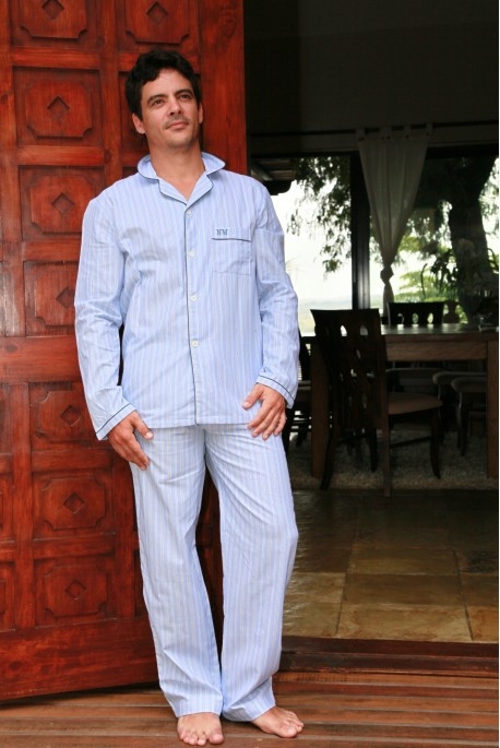 Pyjama Homme Charles rayure ciel