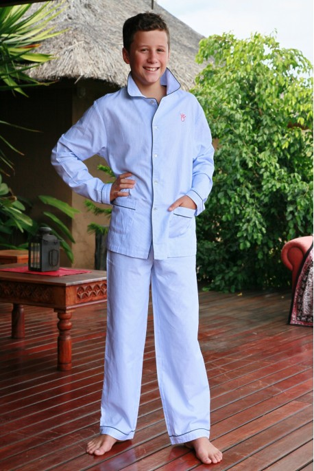 Pyjama Garçon Roméo Rayure Ciel
