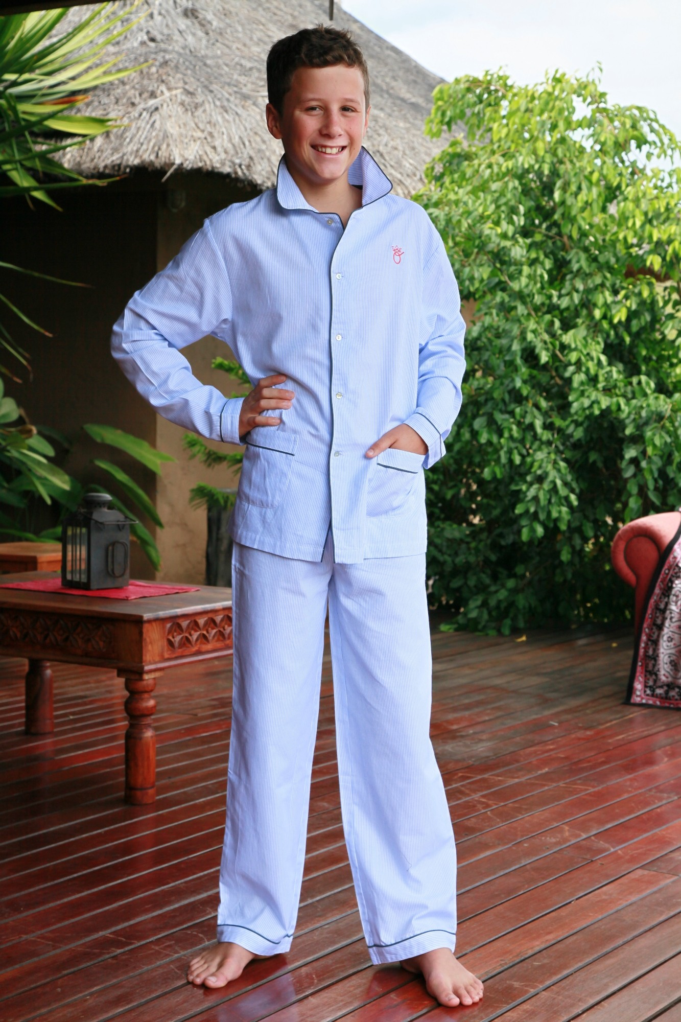 pyjama gar on rom o rayure ciel l 39 orangerie. Black Bedroom Furniture Sets. Home Design Ideas