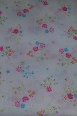 Tissu Popeline Imprimé Fleurs multicolores