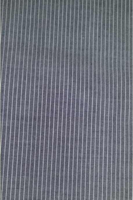 Tissu Popeline Pinstripe Grise