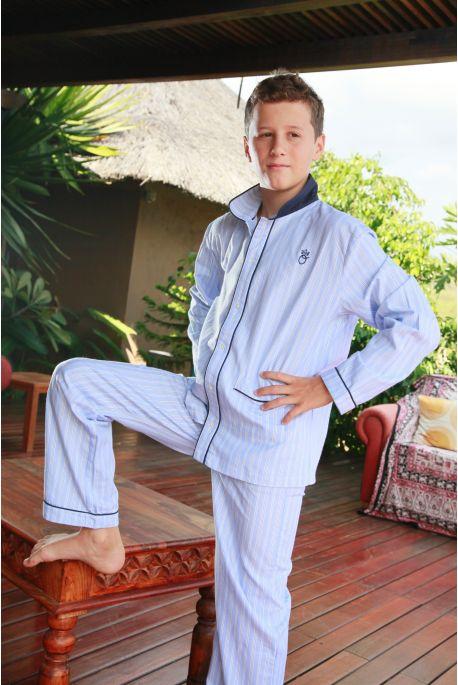 Pyjama Garçon Louis Rayé ciel