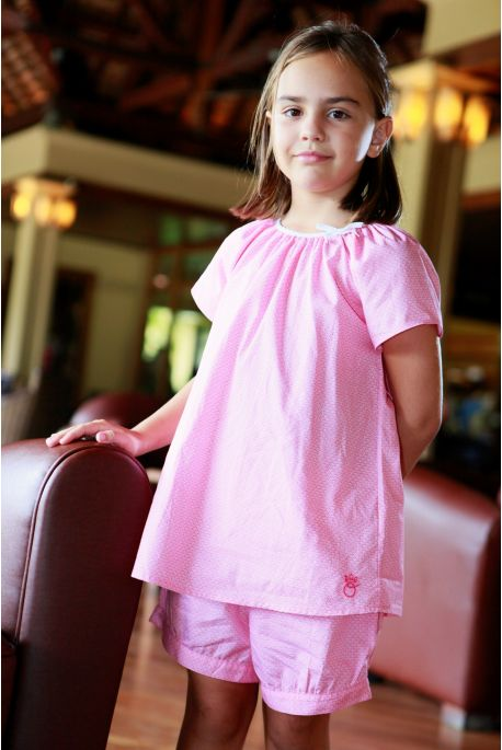 Pyjama Fille Honorine fuchsia