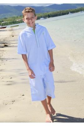 Korte hemelsblauw pyjama voor jongens