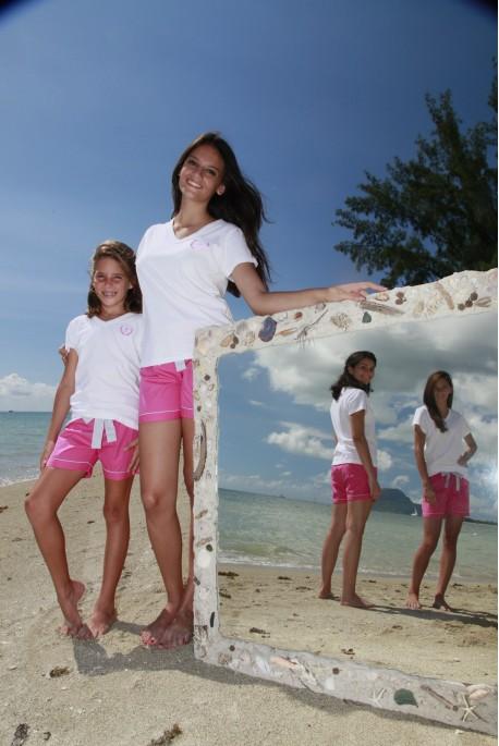 Donker roze korte pyjama voor meisjes