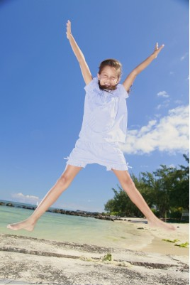 Gestreepte korte pyjama voor meisjes