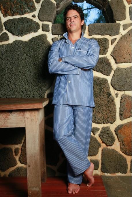 Blue Stripe Men's Pyjamas