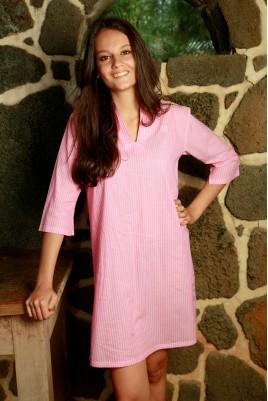Roze gestreepte Nachthemd voor dames