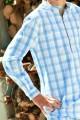 Sky Blue Check Boys' Pyjama
