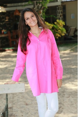 Pink Ladies' Tunic pyjamas with leggings