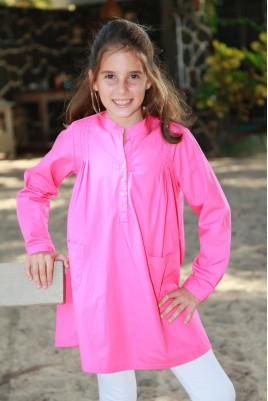 Pink Girls' Tunic pyjama with legging