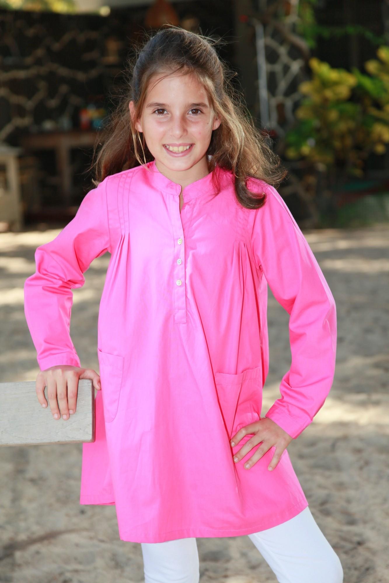 ba93e0cd5d728 Pyjama Fille Tunique Fuchsia Sibylline - L'orangerie